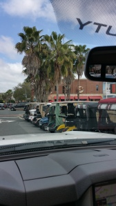 Nothing but golf carts all over the place! The Villages, FL